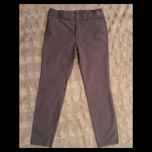 Men's H&M Slim Fit Button Fly Brown Pants